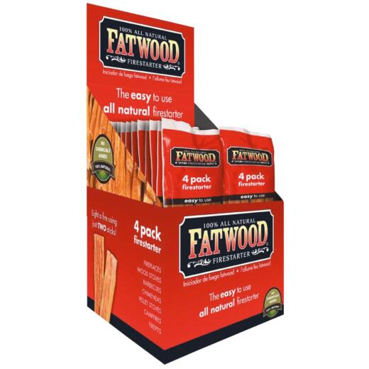 Fatwood Fire Starter, 26-Pack Display Box