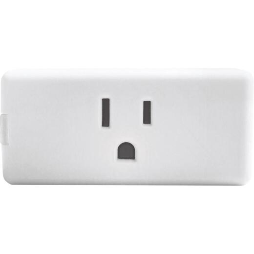Leviton Decora Smart 1-Outlet White Wi-Fi Plug-In Outlet