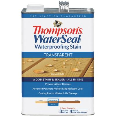 Thompsons WaterSeal Transparent Waterproofing Stain, Harvest Gold, 1 Gal.